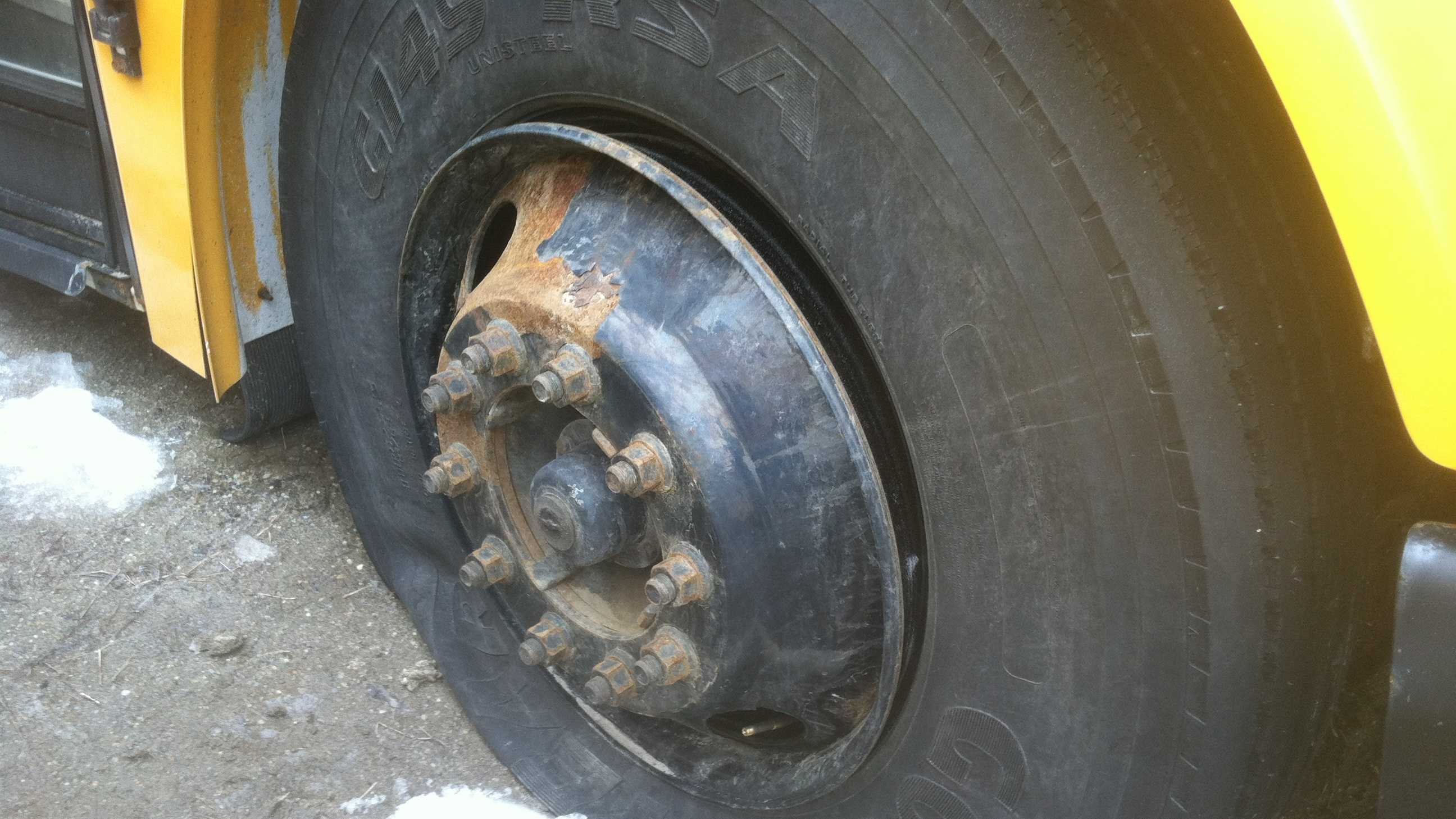 Lisbon Bus Tire Flat