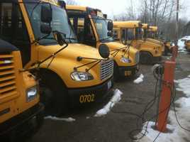 Lisbon police are investigating after all 15 of the school district's buses were vandalized.