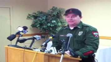 At 10:30 a.m. Tuesday, Game wardens talked about Joy's rescue saying he built a snow cave and slept there for two nights until being rescued.
