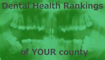 County Health Rankings, inc. recently released their 2013 findings. They reflect the number of dentist in the county and the county's population. The slides count down from the Maine county with the highest ratio.