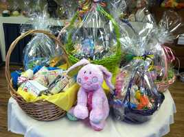 Easter baskets at Wilbur's