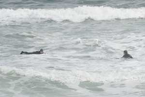 The surfer's relatives who were on the shore had called for help. The first crews to arrive at the scene discovered a surfer caught in a riptide, according to Pothier.