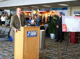 Southwest Airlines has started flying out of the Portland International Jetport. A ceremony was held on Monday to mark the airline's arrival.