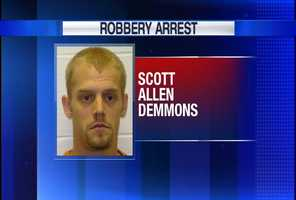 Scott Allen Demmons is charged in connection with a robbery spree in Lewiston and Auburn