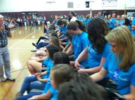 In, what the school has dubbed, The Pantene Beautiful Lengths Ponytail Cutting Event, volunteer hair dressers from around Cumberland County will lop off the locks, which will then be donated to an organization that turns them into wigs.