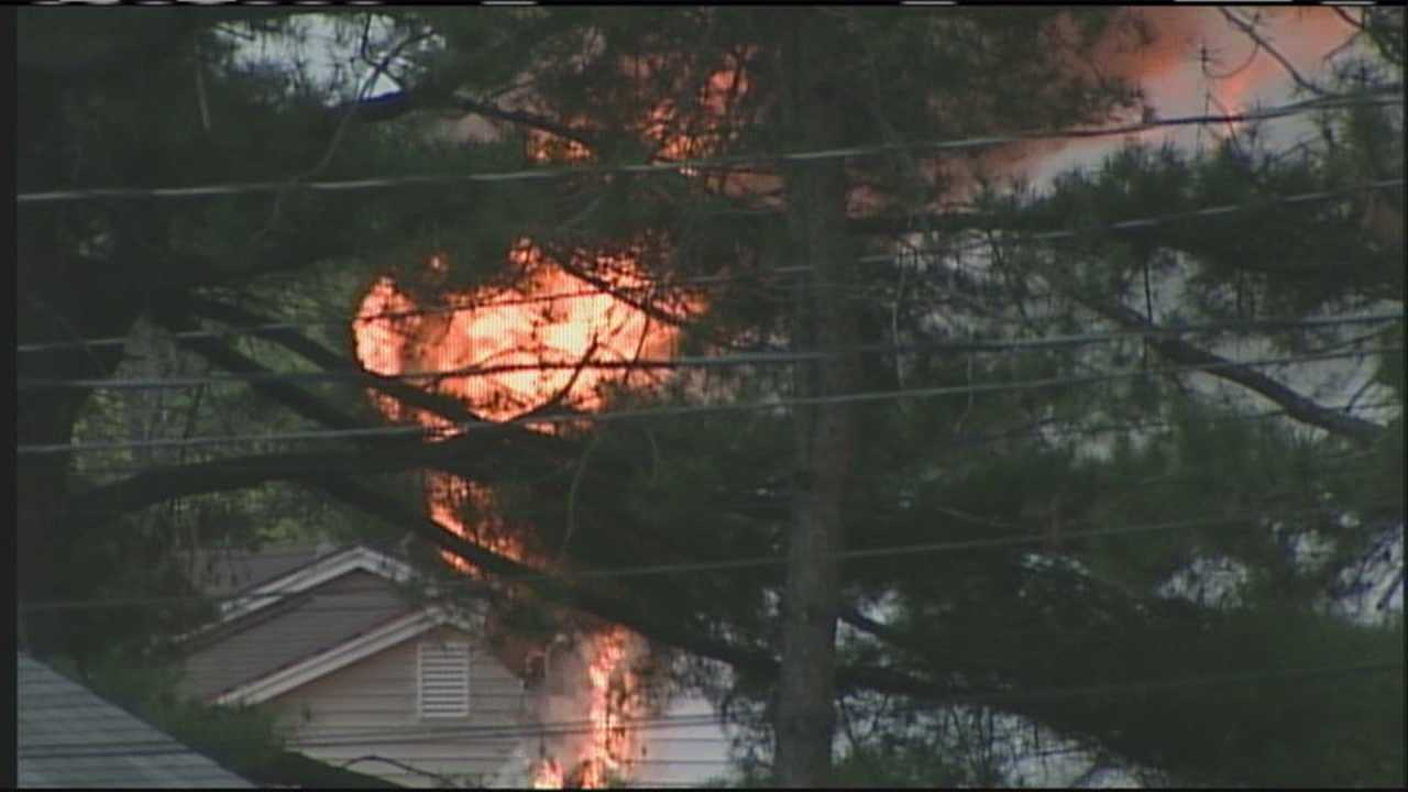 Saco standoff ends following fire