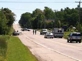 Police say two people were killed in a crash Monday morning on Route 3 in Augusta.
