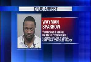 Wayman Sparrow was arrested in a drug bust