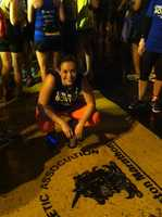 Meteorologist Mallory Brooke also finished the race at the Boston Marathon finish line.