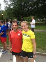 According to Emerson, the race director ran the first 6.5 miles from the Boston Marathon starting line with the One Run for Boston runners.