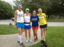 Emerson said she met a number of runners from all over the country.