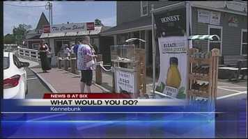 "A social experiment like the show, ""What Would You Do?"" played out on Friday in Kennebunk."