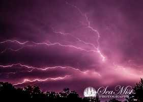 This picture is lightning from Lisbon Falls submitted to our Facebook page.