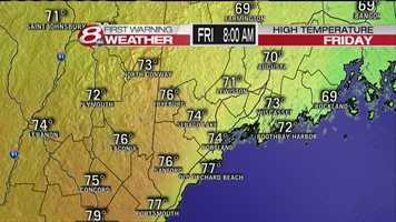 It is expected to be the hottest day of the year on Friday. Click through to get an hour-by-hour look at just how hot is is going to get.
