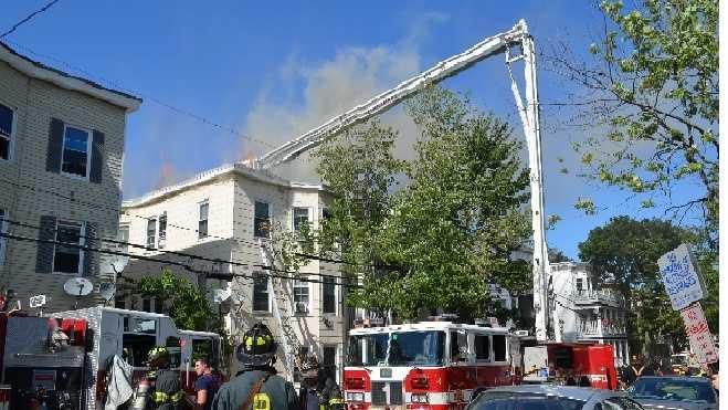 Grant St. fire damage