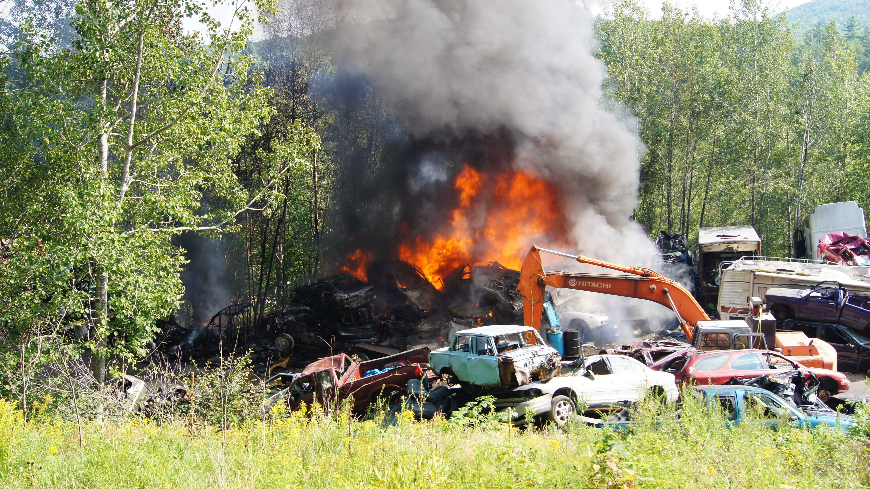 West Paris scrapyard fire