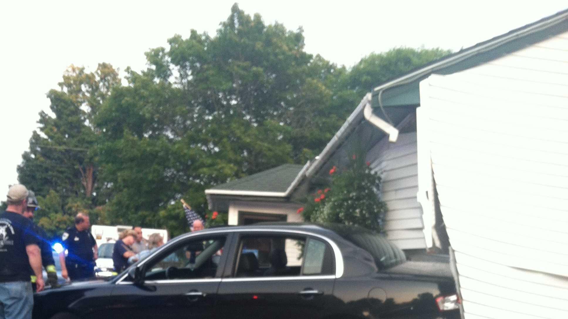 Car into North Beriwck restaurant