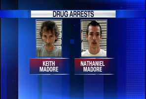 Keith Madore and Nathaniel Madore are charged with Class B trafficking in Oxycodone