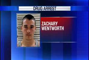 Zachary Wentworth is charged with Class B trafficking in Oxycodone