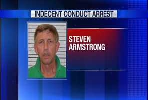 Steven Armstrong is charged with Indecent Conduct