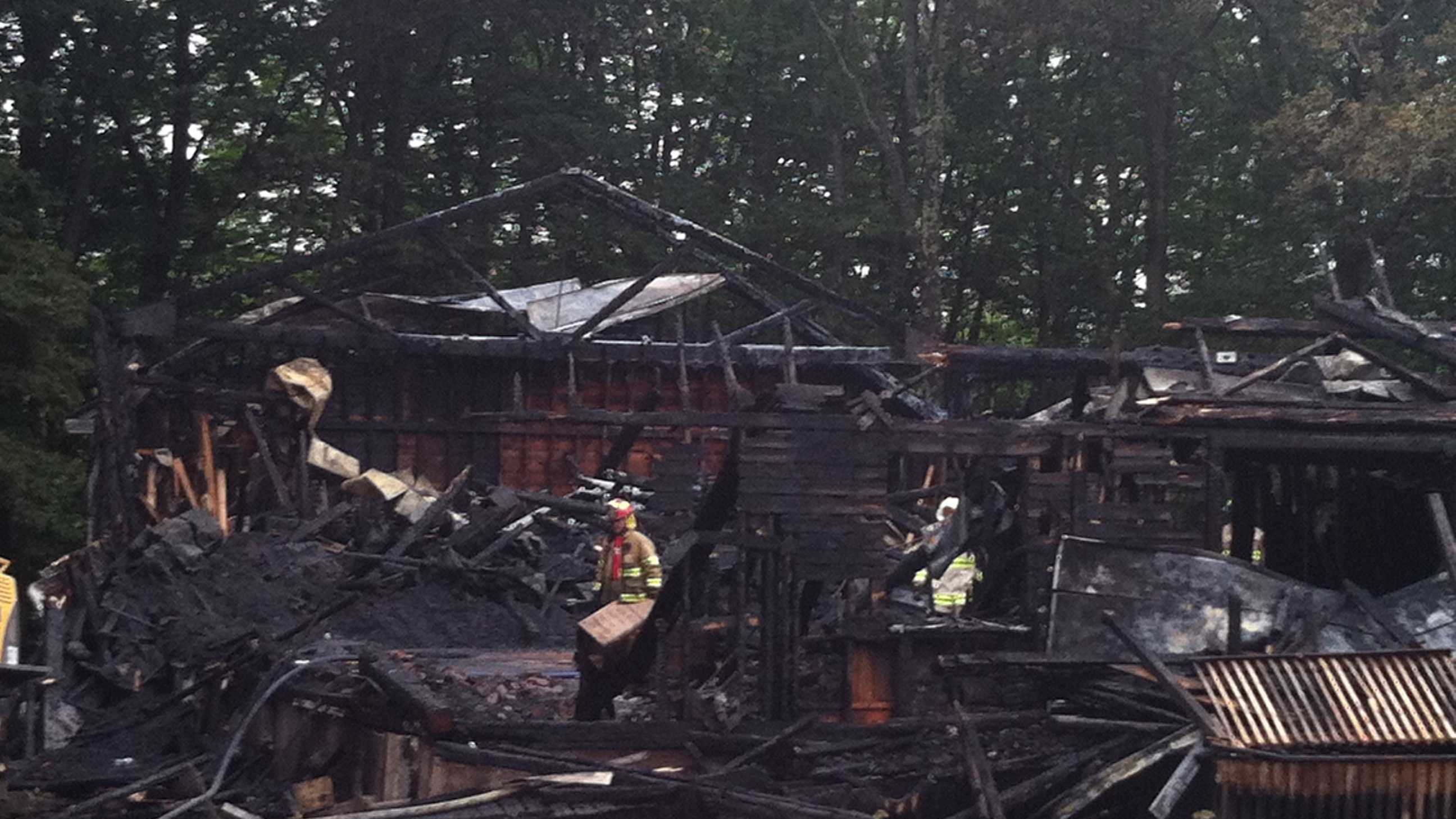 A fire early Friday morning destroyed a grange hall in North Yarmouth. Click through for more pictures from the scene.