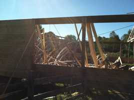Three people were hurt when a roof collapsed on a building under construction in Windham on Wednesday.