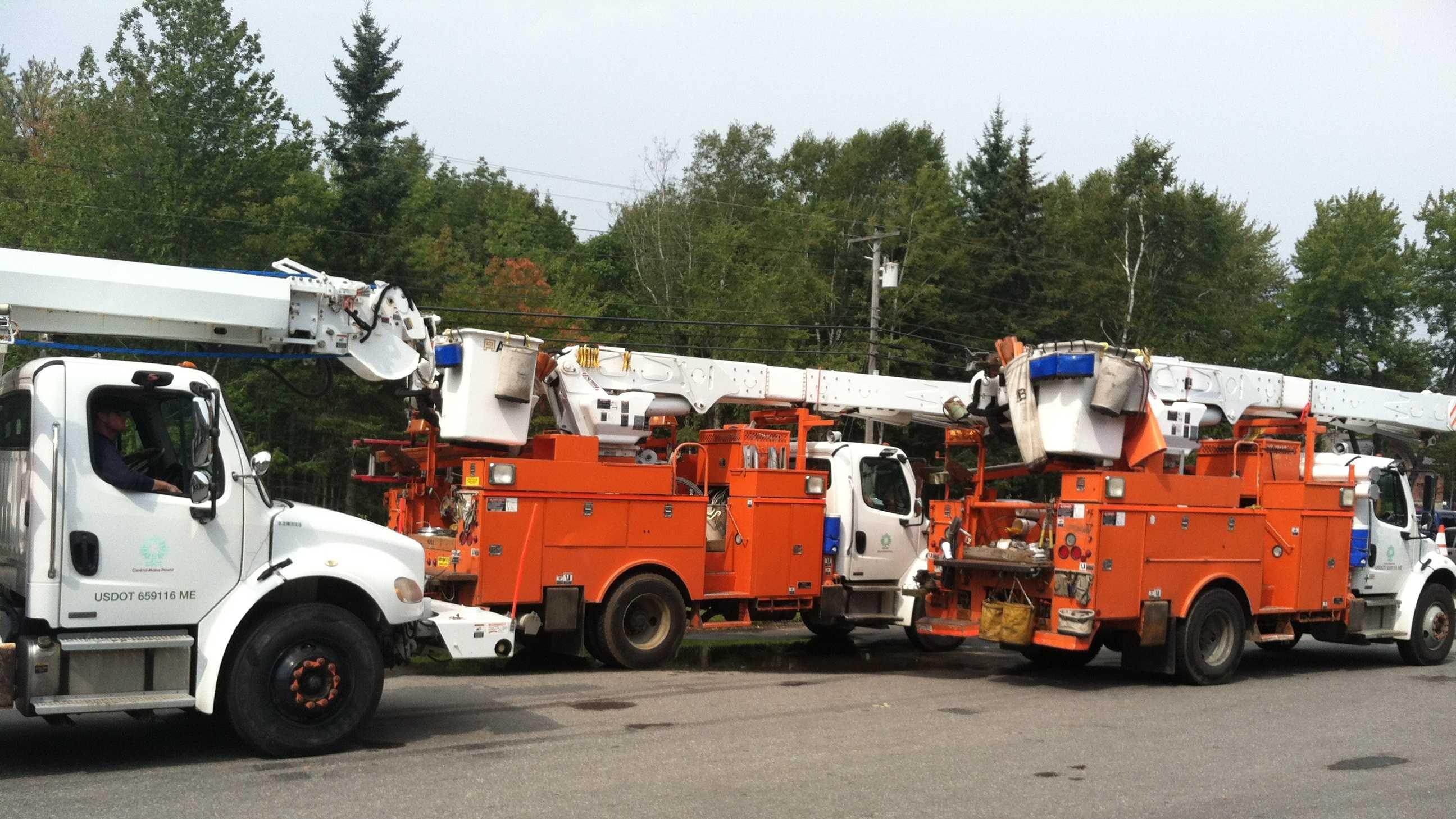 Central Maine Power trucks