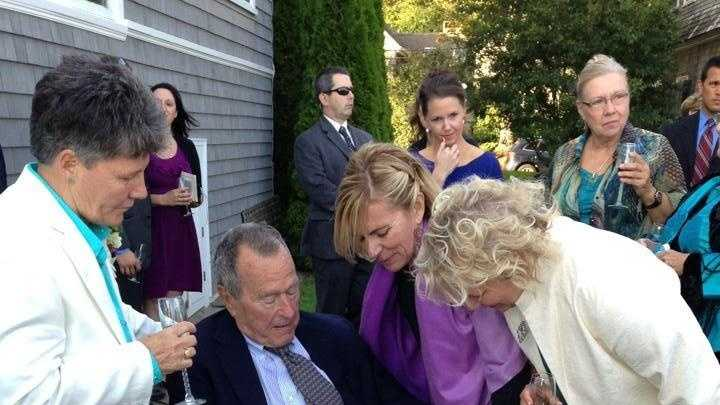 Fmr. President Bush witnesdses same-sex marriage