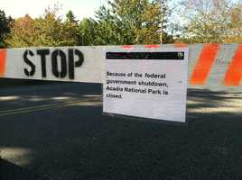 The government shutdown is forcing all national parks, including Acadia National Park, to close.
