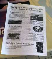 These flyers are being distributed by the Bar Harbor Chamber of Commerce.