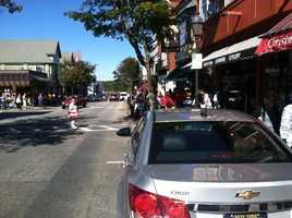 Downtown Bar Harbor was filled with people Tuesday afternoon.