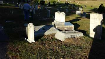 One cemetery board member described his reaction when he first saw the damage.