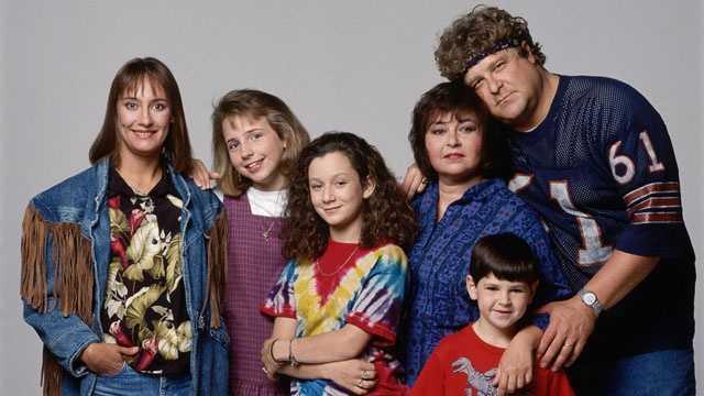 Roseanne sitcom cast photo