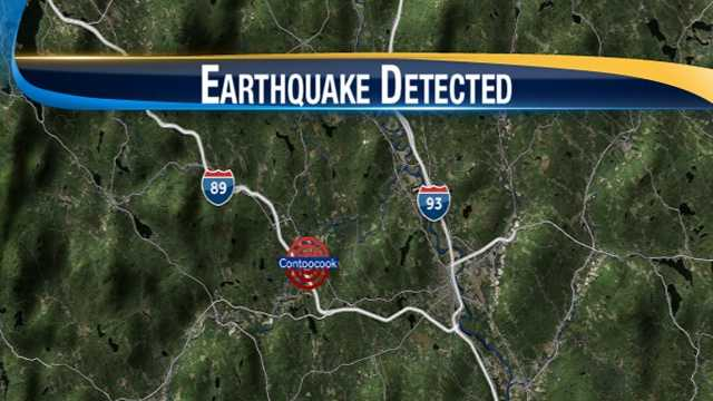 Reported earthquake felt in central NH