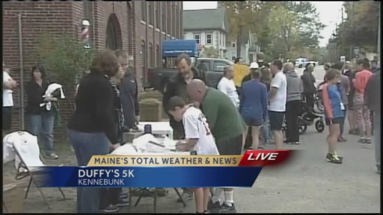 This weekend, Kennebunk is celebrating it's annual Harvest Fest and one of the many great activities is the third annual Duffy's 5K which raises money for Kennebunk's Emergency Heating Assistance Fund. WMTW News 8's Norm Karkos has a preview from Kennebunk.