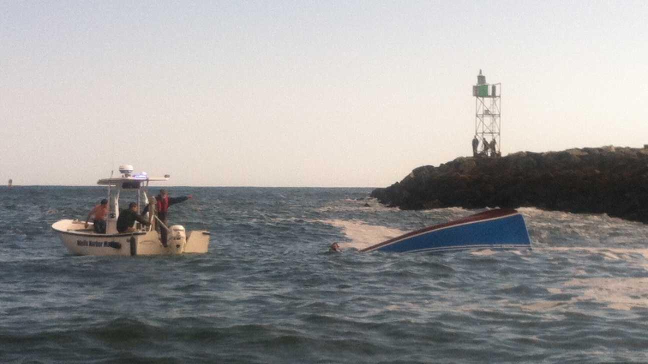 Wells overturned boat