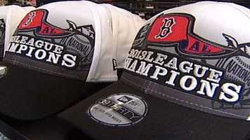 Regardless of where fans watch the games, many cheer on the team with the latest Sox merchandise.