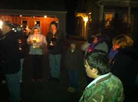 "March 3, 2012: ""Teddy Bear"" vigil in Waterville"