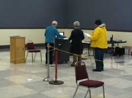 People were out early to vote in the city of Portland.