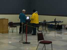 Polls opened at 7 a.m. with strong early turnout.