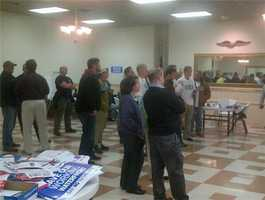 Watch party at anti-WPO headquarters.