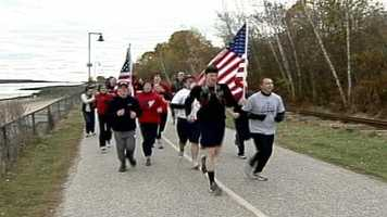 A retired Marine ended a cross-country run in Portland on Veterans Day, that raised money for veterans' charities.