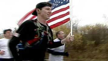He raised $400,000 for veterans' charities