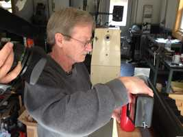 John Foster, of Searsmont said the device also cranks out environmentally friendly heat.