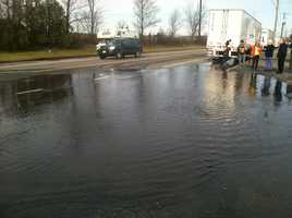 The intersection of Marginal Way and Cove Street is often flooded during higher than normal rides