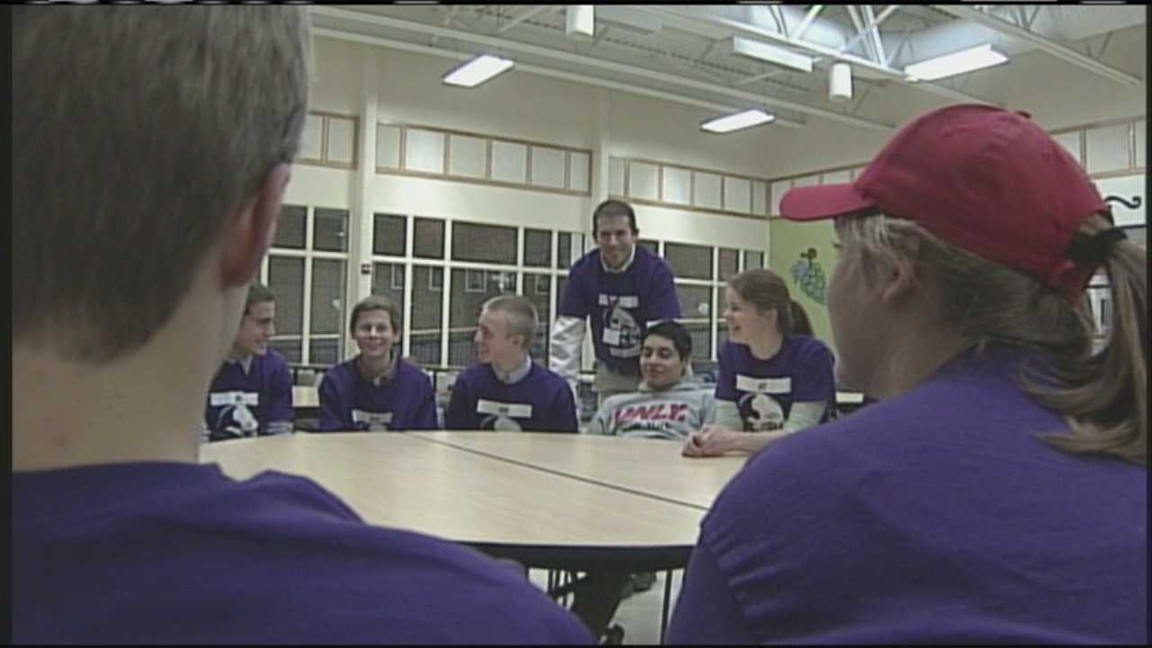 PORT img-Yarmouth students wear purple to battle bullying