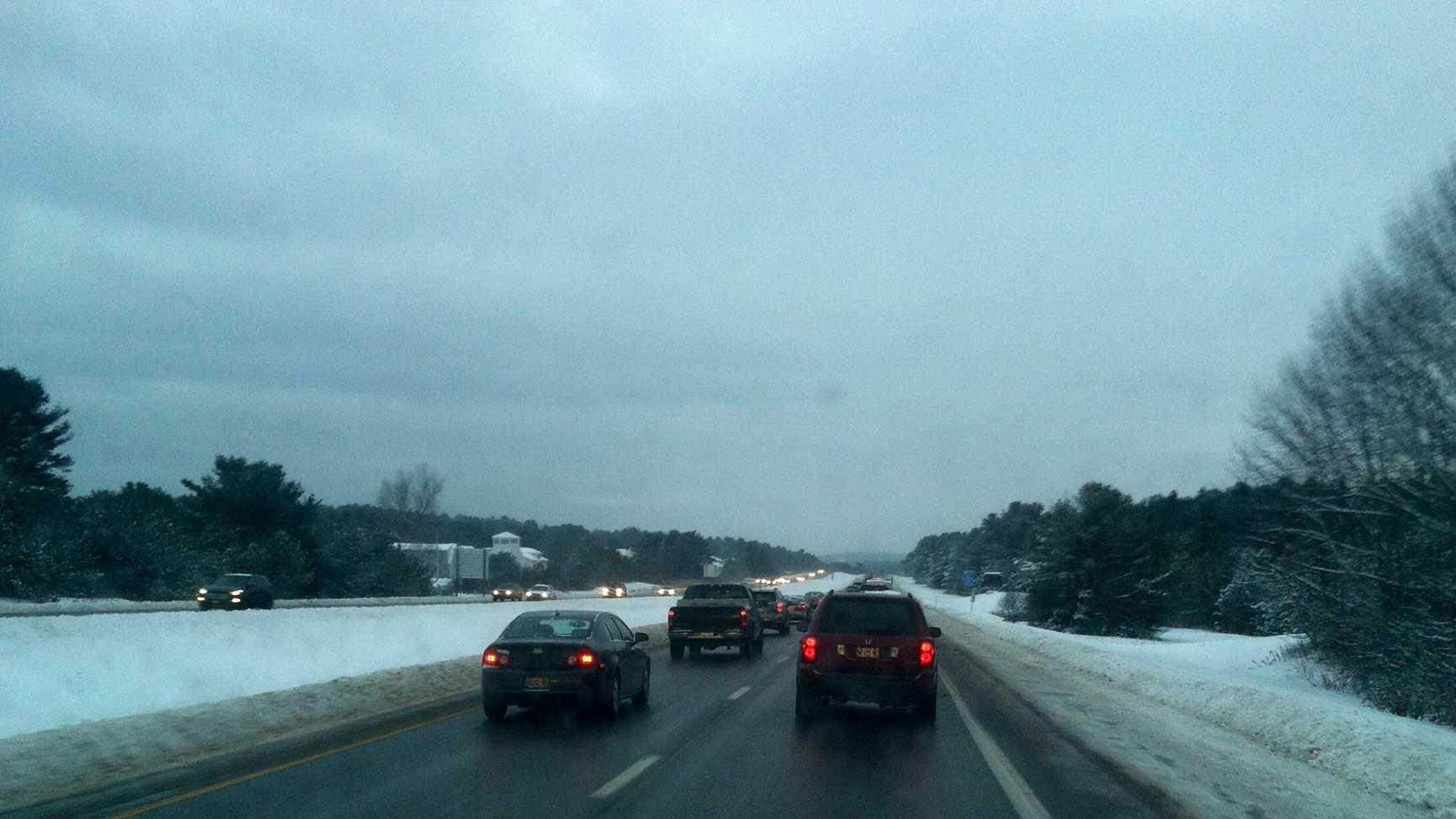 I295 moving slow Wednesday morning