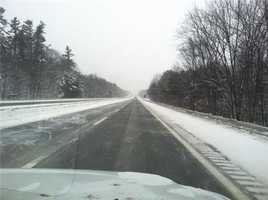 Speeds are reduced on the Maine Turnpike to 45 mph
