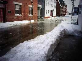 Flooding on Commercial Street at Noon on Friday