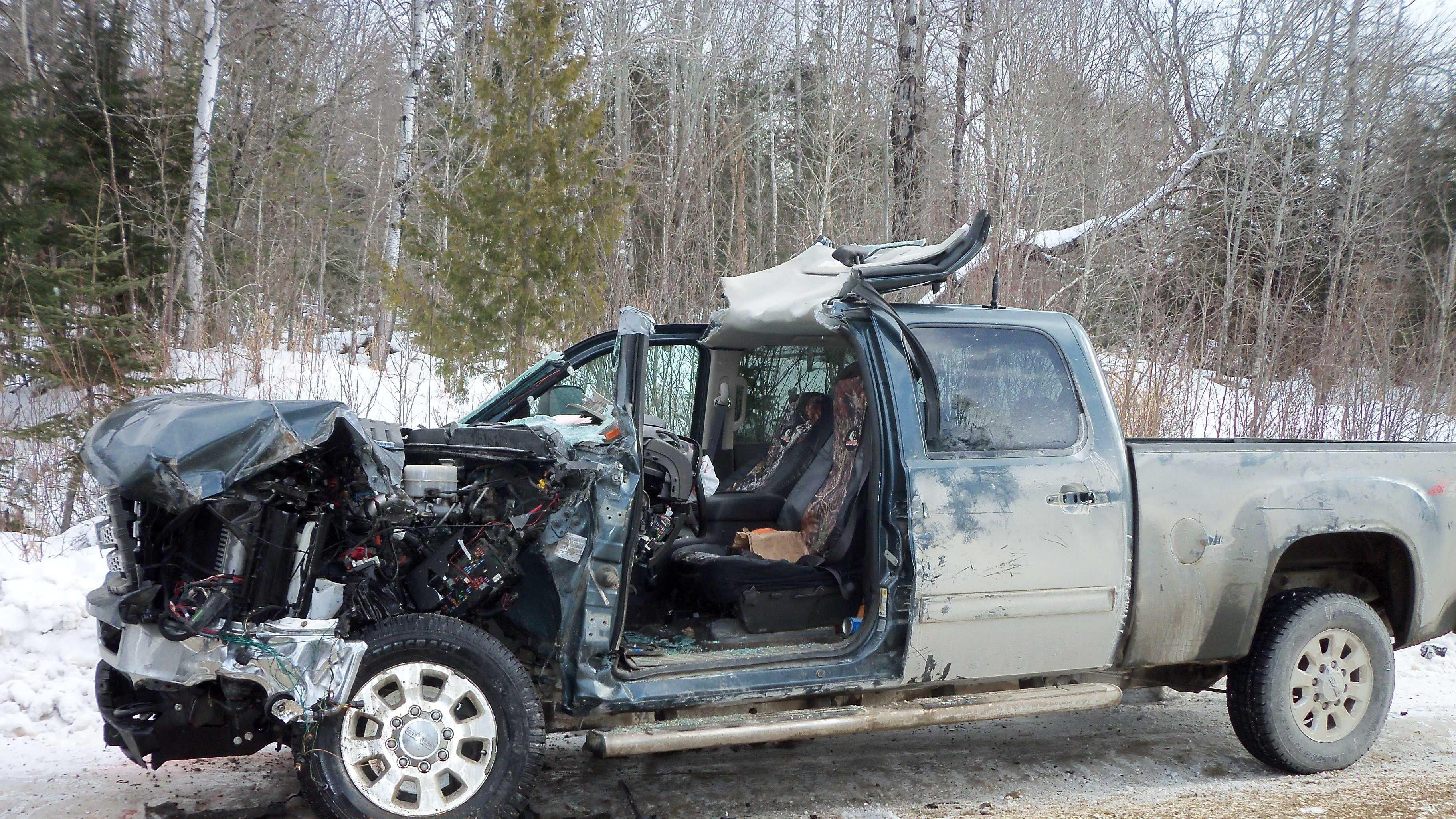 Logging truck crash